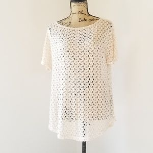 Staring at Stars Crochet Lace Oversized Blouse